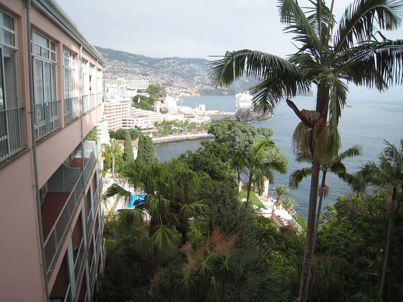 Funchal, Madeira - view from from Reid's Palace where we had lunch