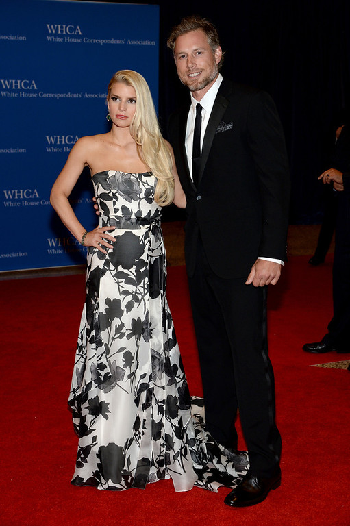 . Jessica Simpson and Eric Johnson attend the 100th Annual White House Correspondents\' Association Dinner at the Washington Hilton on May 3, 2014 in Washington, DC.  (Photo by Dimitrios Kambouris/Getty Images)