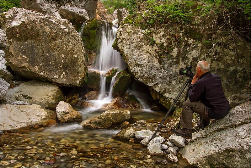 Beri waterfall with Janusz