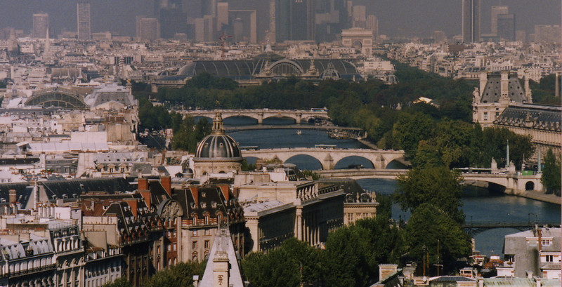 Looking out over Paris and the River Seine