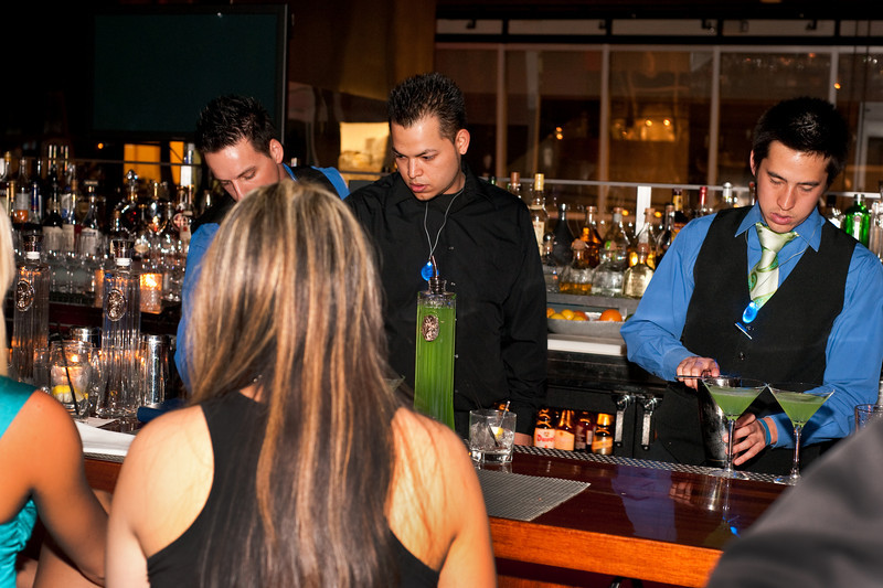 """Photographs of Earth Hour event at Rick Moonen's RM restaurant in Mandalay Bay Resort in celebration of """"Earth Hour,"""" a global event with over 200 cities around the world participating by cutting their electricity for 1 hour, trying """"Conserve A Little  Energy Today, To Have Some Tomorrow."""""""