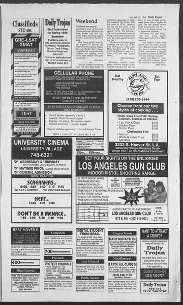 Daily Trojan, Vol. 127, No. 10, January 26, 1996