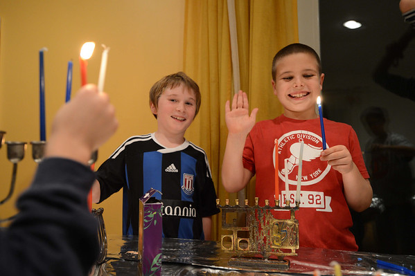 Hanukah party at home