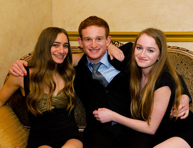 Dana, Rachel and Andrew at Harry's Bar Mitzvah, March 2, 2013