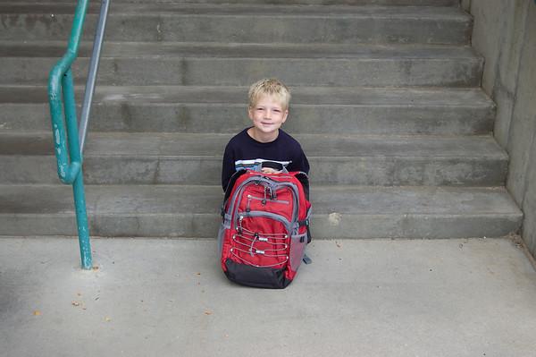 Adam's 1st Day of 2nd Grade