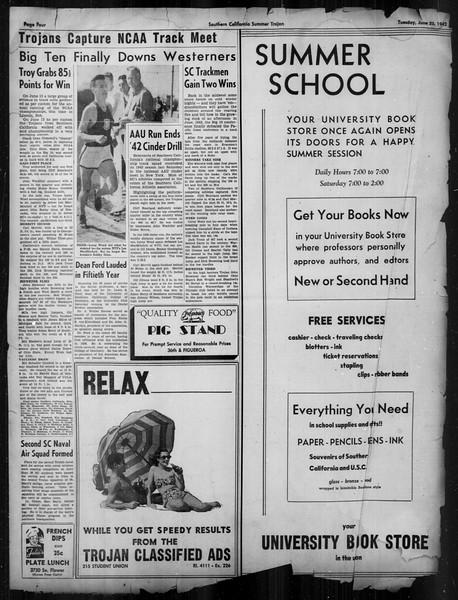 Summer Trojan, Vol. 33, No. 1, June 23, 1942