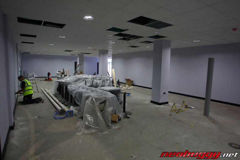 The on site shop under construction