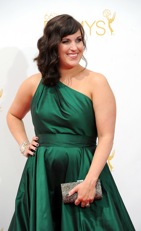 . Allison Tolman on the red carpet at the 66th Primetime Emmy Awards show at the Nokia Theatre in Los Angeles, California on Monday August 25, 2014. (Photo by John McCoy / Los Angeles Daily News)