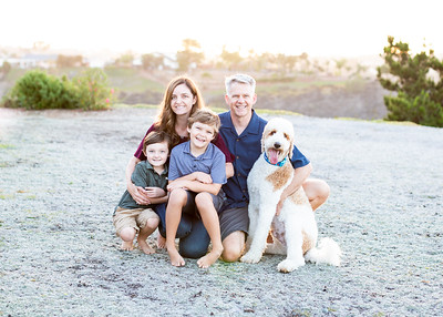 Family portrait photographs at home in University City San Diego - The Jenne Family - September 2018