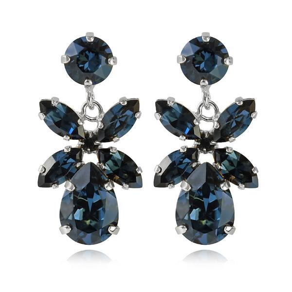 Mini Dione Earrings / Montana Rhodium