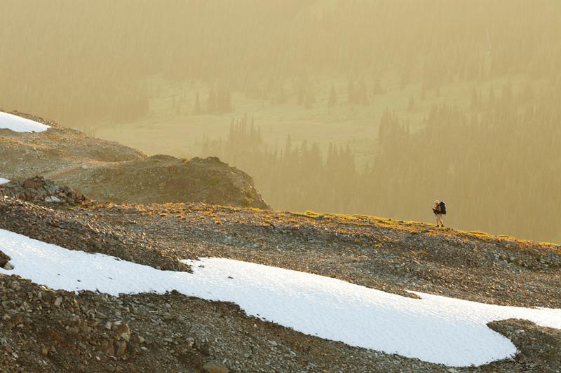 Backpacking in Garibaldi Provincial Park, British Columbia, Canada.