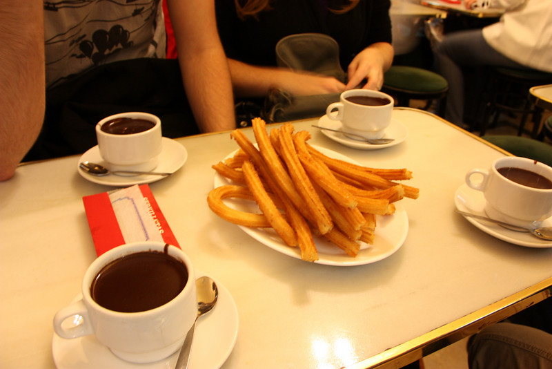 Mmmmm!  Churros con Chocolate = heaven!  In those cups is hot chocolate the consistency of soup.  We dipped away and it was delightful.  Jared and I had to return for round 2 later in the week.