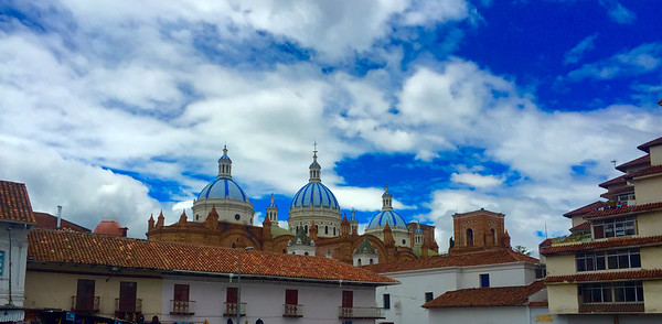 Downtown Cuenca looking toward the Cathedral
