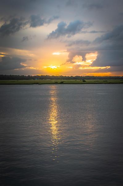 Sunset on the Tolomato River