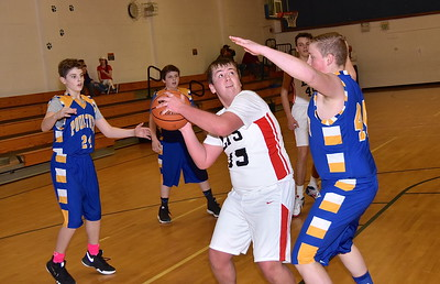 LTS Boys JV Basketball vs Poultney photos by Gary Baker