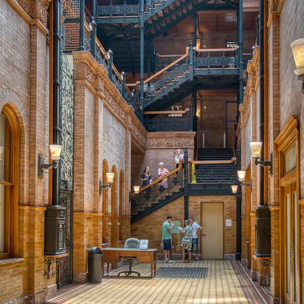 The lobby of the Bradbury Building