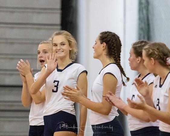 2018-09-13 Hillsdale Academy Varsity Volleyball vs. Litchfield