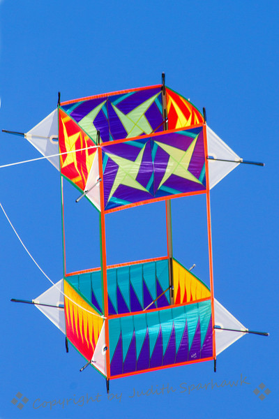 Box Kite ~ Remember those old box kites?  This was a pretty snazzy version, flying at the kite festival at Huntington Beach, CA.