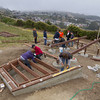 VOLUNTEERS BUILD WHALE OBSERVATION  DECK