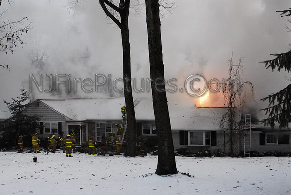 Chester, NJ House Fire 22 Dogwood Dr. December 16, 2007
