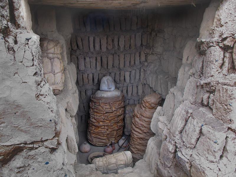 Wari tomb in Huaca Pucllana
