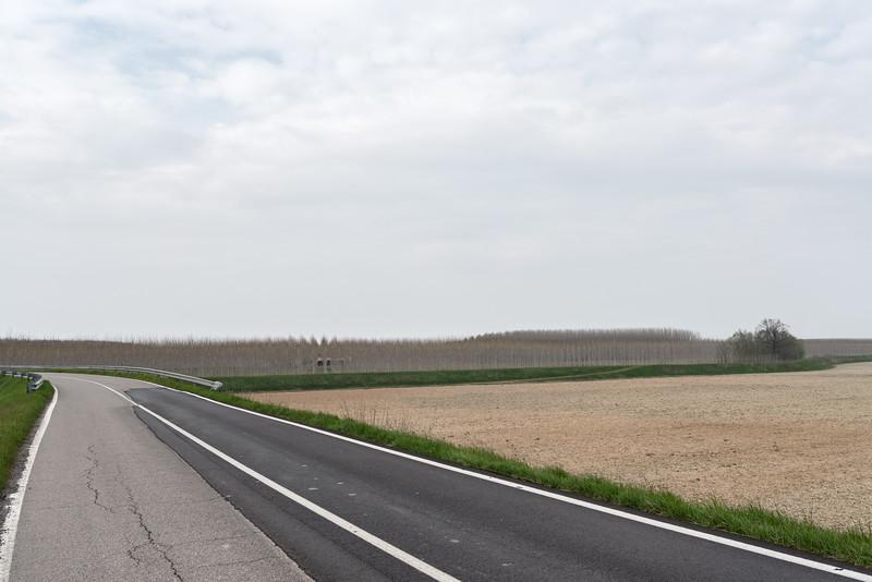 Strada Provinciale 57 - Viadana, Mantova, Italy - March 24, 2015