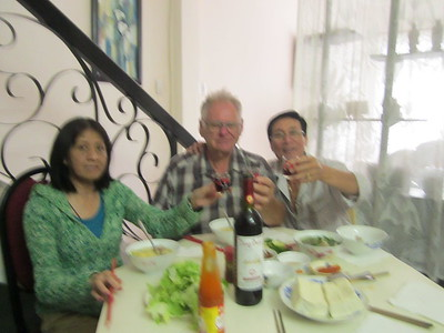 October 09 - With Huong and family