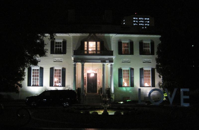 October 11, 2012 - (Virginia State Capitol / Richmond, Virginia) -- Virginia Governor's Mansion at night on Ghost Walk