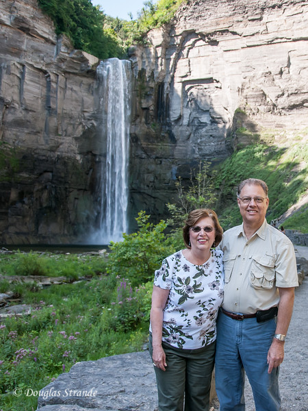 Doug & Louise in front of Taughannock Falls