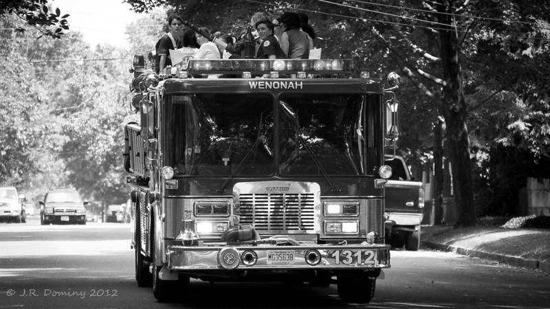 The 1st Fire Truck Ride - 2012