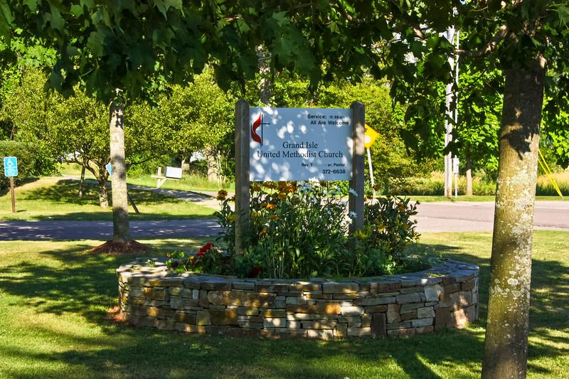 Grand Isle Methodist Church Sign