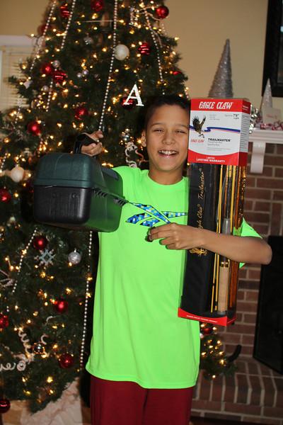 fishing rod and tackle box from his Granddad