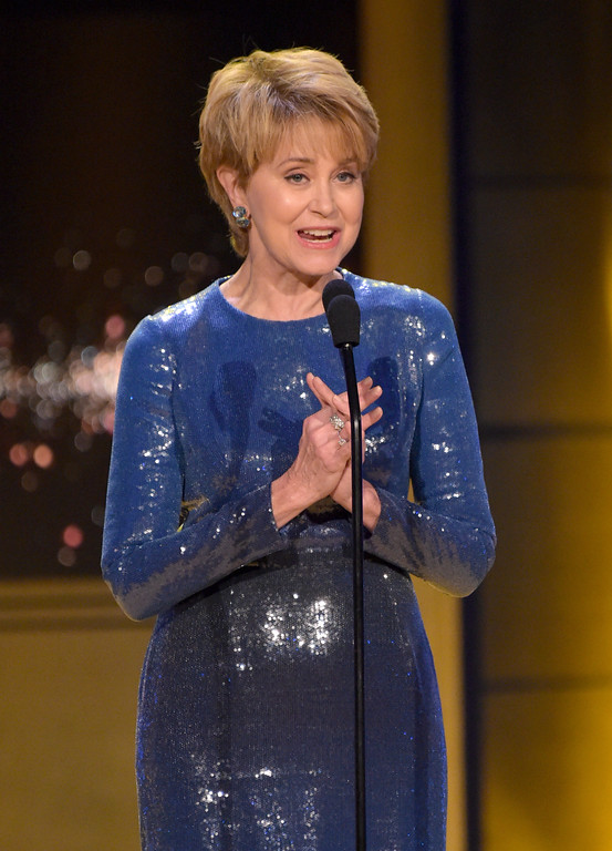 . Jane Pauley presents the award for outstanding drama series at the 45th annual Daytime Emmy Awards at the Pasadena Civic Center on Sunday, April 29, 2018, in Pasadena, Calif. (Photo by Richard Shotwell/Invision/AP)