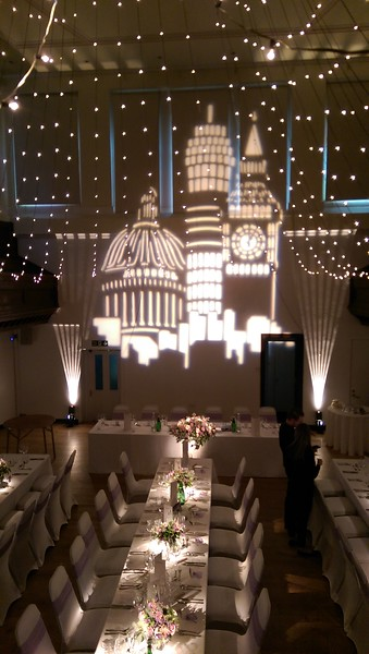 All white gobo and stripes