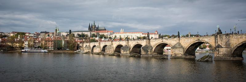 Charles Bridge over Vitava River