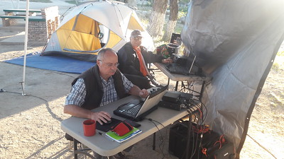 Camping and Winlink La Rumurosa outside Tecate.