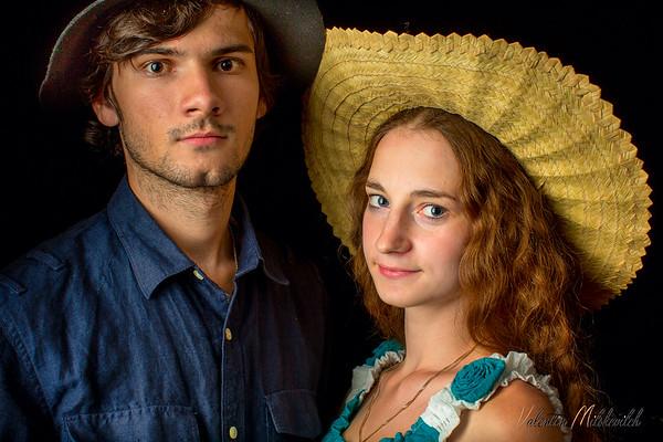 Nastya and Artiom Razumovskie