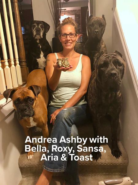 Andrea Ashby with Bella, Roxy, Sansa, Aria & Toast.jpg