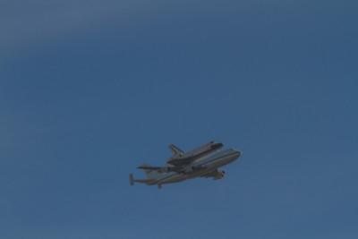 Shuttle Flying Over