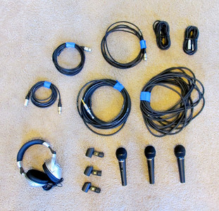 XLR Microphones and cords