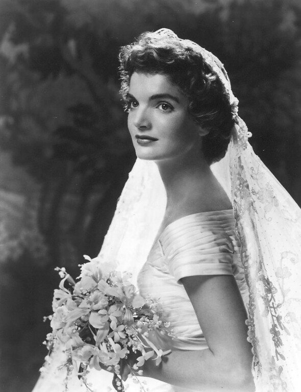 . The formal wedding portrait of Jacqueline Bouvier Kennedy on Sept. 12, 1953. John F. Kennedy Presidential Library and Museum
