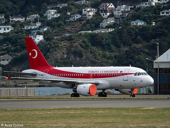 Turkish A319 in Wellington 2016