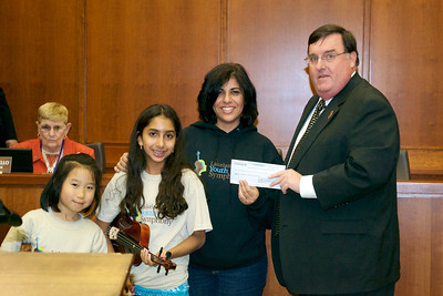 2012 Presenting the Proceeds from StringAid for Denville's Hurricane Relief Fund
