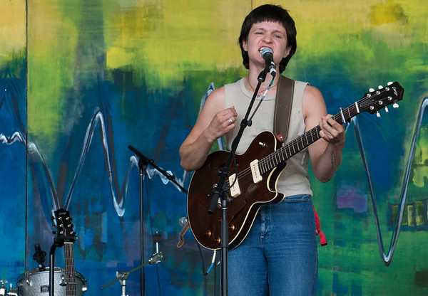 Big Thief performs at the Green Ash stage during Folk Fest at Birds Hill Park Sunday July 9, 2017. (David Lipnowski for Metro News)
