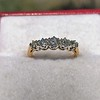 0.48ctw Vintage Transitional Cut Diamond 5-stone Band 7