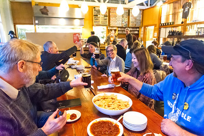 Oregon Indivisible dinner at Falling Sky Brewing