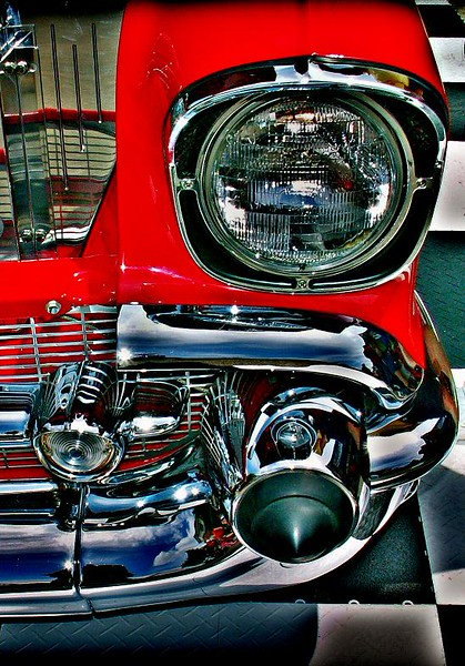 An HDR alteration of 57 Bel-Air photo. You can see the original photo in the Chrome and Steel Gallery.