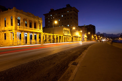 City of Havana, Cuba, at night.