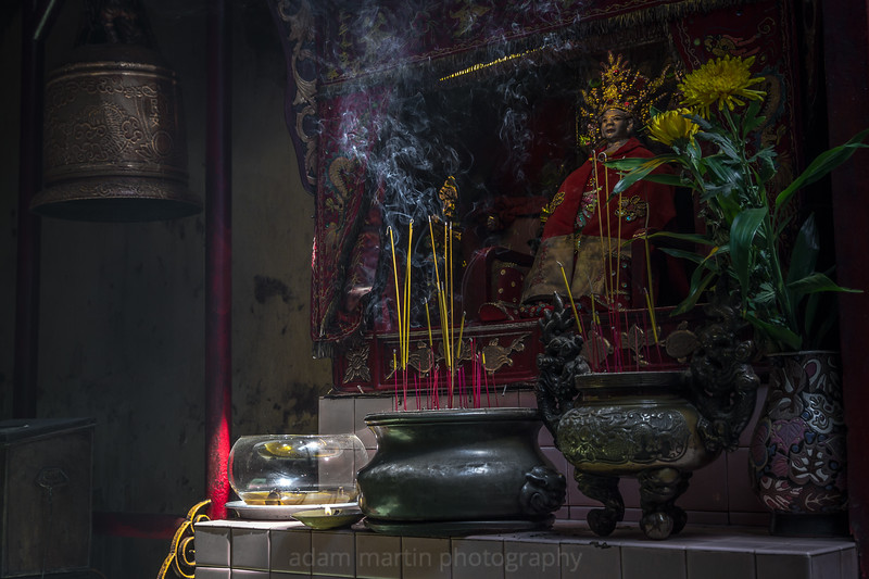 Smoking Incense, Hoi Quan Quang Trieu Pagoda, Saigon