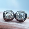 1.52ctw Antique Cushion Cut Collet Earrings 15